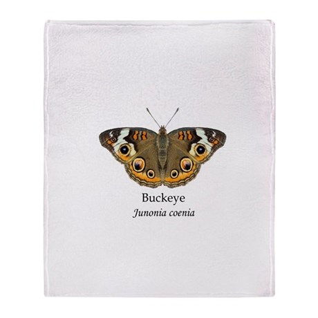 Buckeye Butterfly Throw Blanket