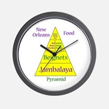 New Orleans Food Pyramid Wall Clock