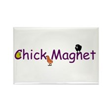 Funny Chicks Rectangle Magnet