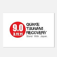 9.0 Quake Tsunami Recovery Re Postcards (Package o