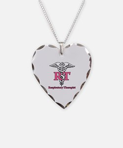 Respiratory Therapist Necklace Heart Charm