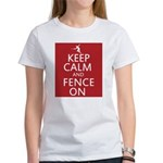 keep clam and fence on Women's T-Shirt