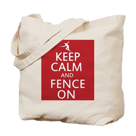keep clam and fence on Tote Bag