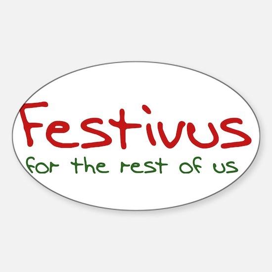FESTIVUS™ Sticker (Oval)