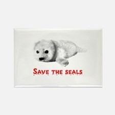 Save the Baby Harp Seals Rectangle Magnet