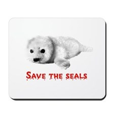 Save the Baby Harp Seals Mousepad