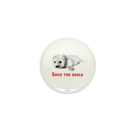 Save the Baby Harp Seals Mini Button (100 pack)