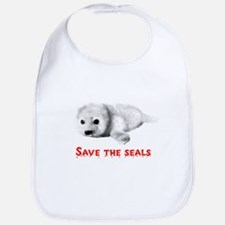 Save the Baby Harp Seals Bib