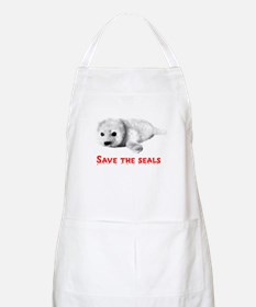Save the Baby Harp Seals BBQ Apron