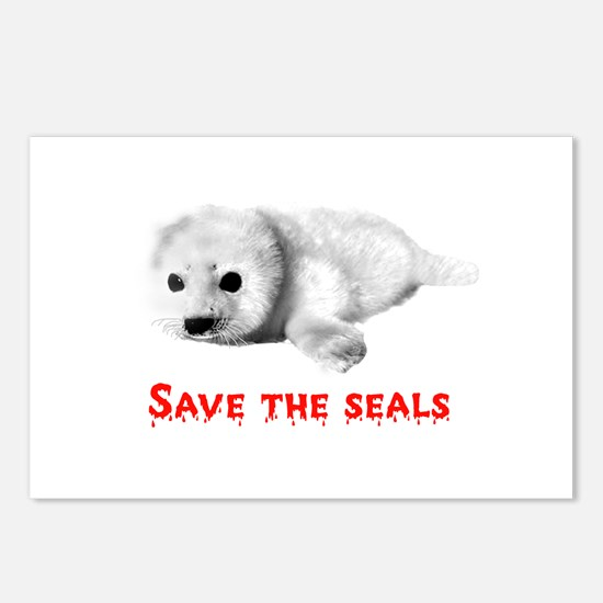 Save the Baby Harp Seals Postcards (Package of 8)