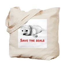 Save the Baby Harp Seals Tote Bag