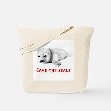 Save the Baby Harp Seals Tote Bag