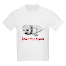 Save the Baby Harp Seals Kids T-Shirt