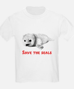 Save the Baby Harp Seals Kids T-Shirt