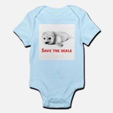 Save the Baby Harp Seals Infant Creeper