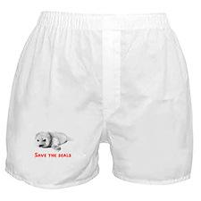 Save the Baby Harp Seals Boxer Shorts