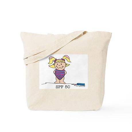 SPF 50 Girl 1 Tote Bag