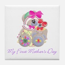 My First Mother's Day (bear) Tile Coaster