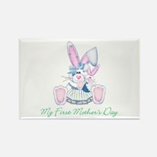 My First Mother's Day (bunny) Rectangle Magnet (10