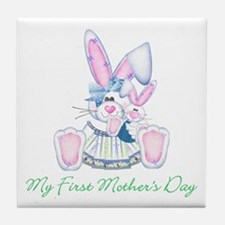 My First Mother's Day (bunny) Tile Coaster