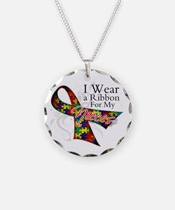 For My Nieces Autism Ribbon Necklace