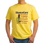 Anti Obamacare Yellow T-Shirt