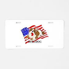 Bulldog USA Aluminum License Plate