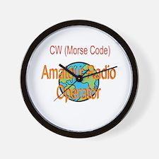 CW Amateur Radio Operator Wall Clock
