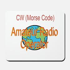 CW Amateur Radio Operator Mousepad