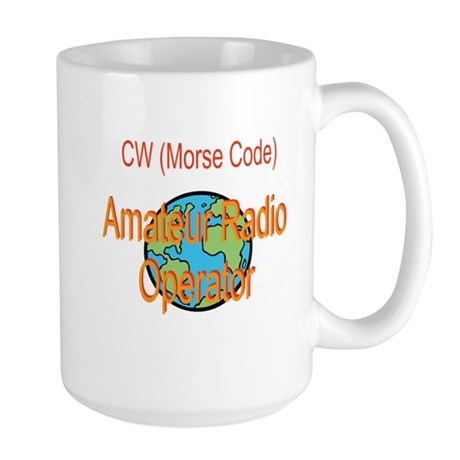 CW Amateur Radio Operator Large Mug