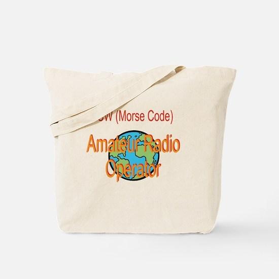 CW Amateur Radio Operator Tote Bag