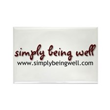 simplybeingwell.com Rectangle Magnet