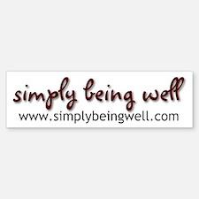 simplybeingwell.com Bumper Bumper Sticker