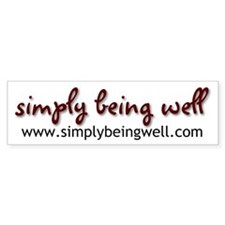 simplybeingwell.com Bumper Sticker