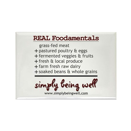 REAL Foodamentals Rectangle Magnet