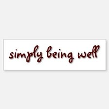 Simply Being Well Sticker (Bumper)