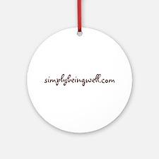 www.simplybeingwell.com Ornament (Round)