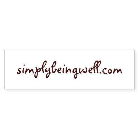 www.simplybeingwell.com Sticker (Bumper)
