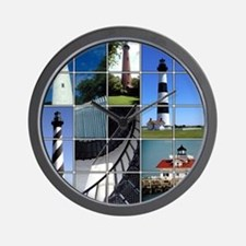 Outer Banks Lighthouses Wall Clock