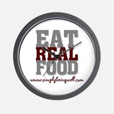 Eat REAL Food! Wall Clock