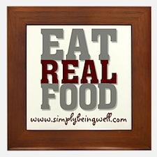 Eat REAL Food! Framed Tile