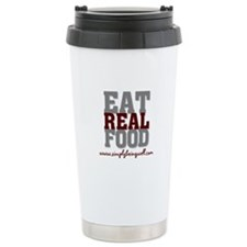 Eat REAL Food! Ceramic Travel Mug