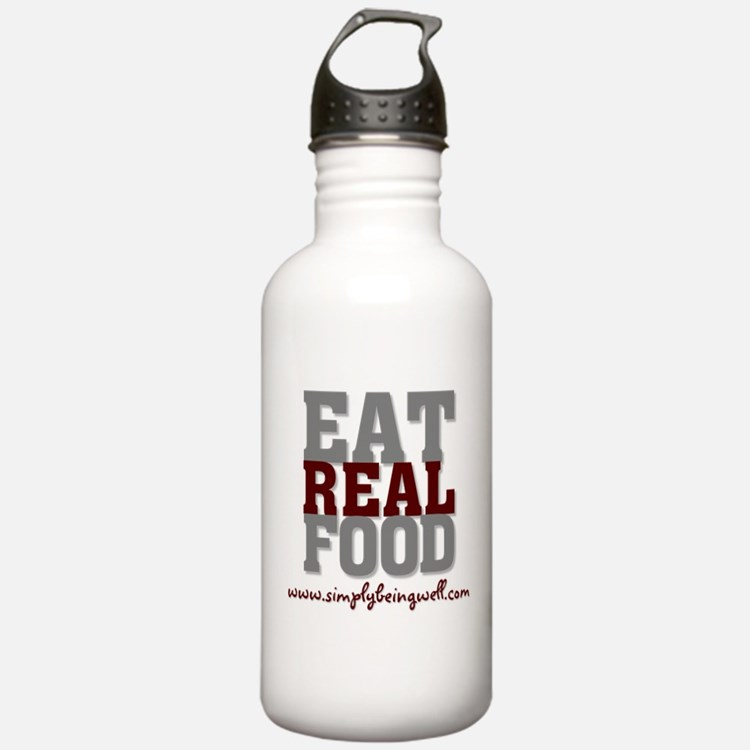 Eat REAL Food! Water Bottle