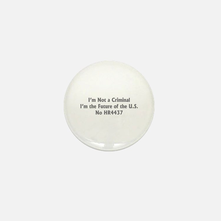 Not a Criminal Mini Button