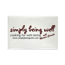 Simply Being Well: Cooking Fo Rectangle Magnet
