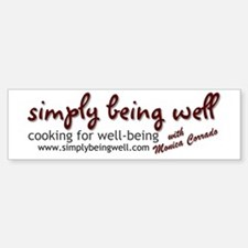 Simply Being Well: Cooking Fo Bumper Bumper Sticker