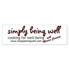 Simply Being Well: Cooking Fo Bumper Sticker