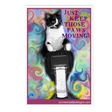 Keep Those Paws Moving! Postcards (Package of 8)