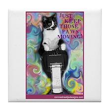 Keep Those Paws Moving! Tile Coaster