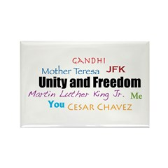 Unity and Freedom Rectangle Magnet